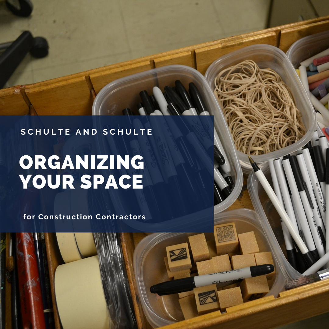 Organizing your construction contracting office space has advantages.